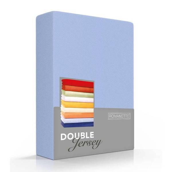 Luxe Dubbel Jersey Hoeslaken - Blauw Romanette 80/90/100 x 200/210/220 cm - Ga naar Dekbed-Discounter.nl & Profiteer Nu