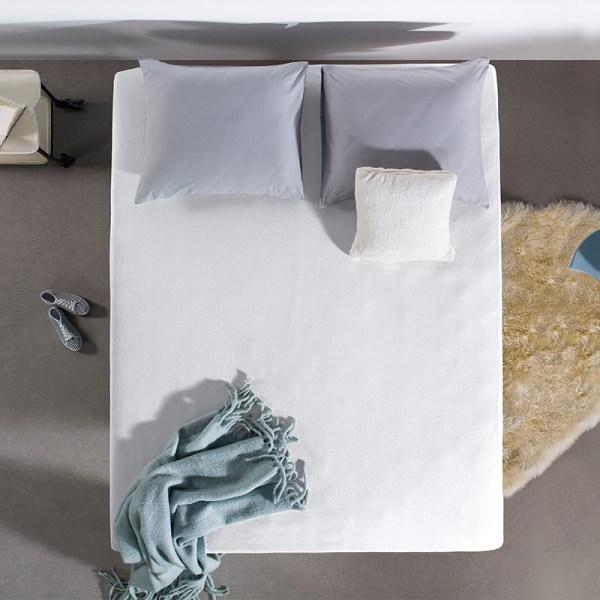 Jersey Hoeslaken - 80/90/100x200 cm - Wit - Home Care - Ga naar Dekbed-Discounter.nl & Profiteer Nu