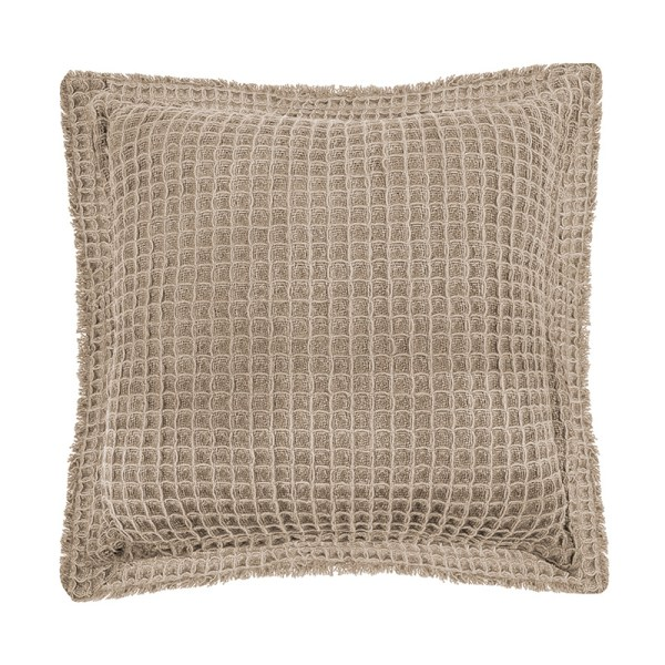 Tiseco Home Studio Sierkussen - Waffle - Taupe