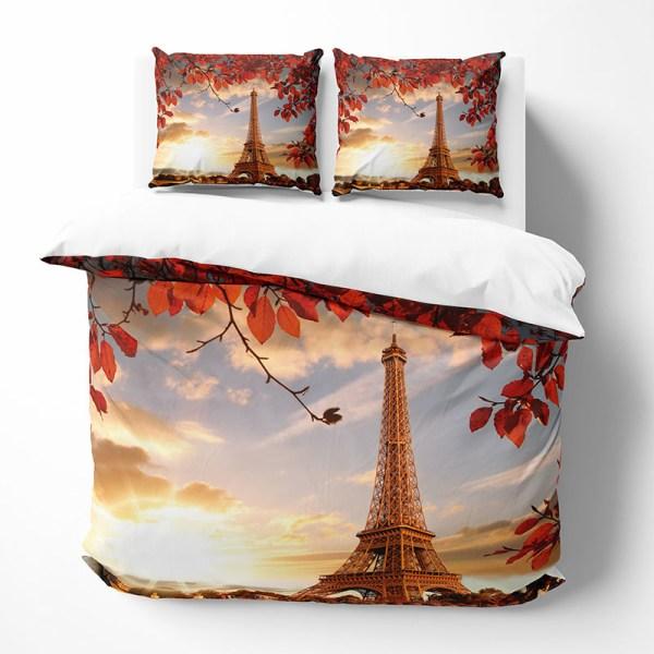 Dekbedovertrek Eiffel Leaves 1-persoons (140x220 cm) - KatoenKatoen-satijnKatoen - Bloemen