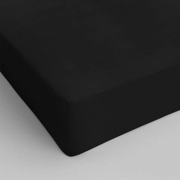 1+1 Gratis - Hoeslakens Katoen - Zwart Dekbed Discounter 70 x 200
