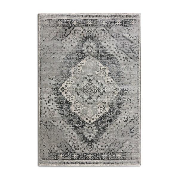 Vloerkleed - Aqua - Grijs Lifa Living Patroon 80 x 150 cm - Ga naar Dekbed-Discounter.nl & Profiteer Nu