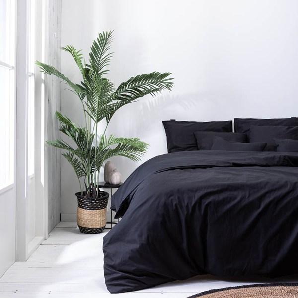 Dekbedovertrek Plain Percale - Off Black 1-persoons (140x200/220 cm) - Percale katoen - Effen - Bordeaux - Ga naar Dekbed-Discounter.nl & Profiteer Nu