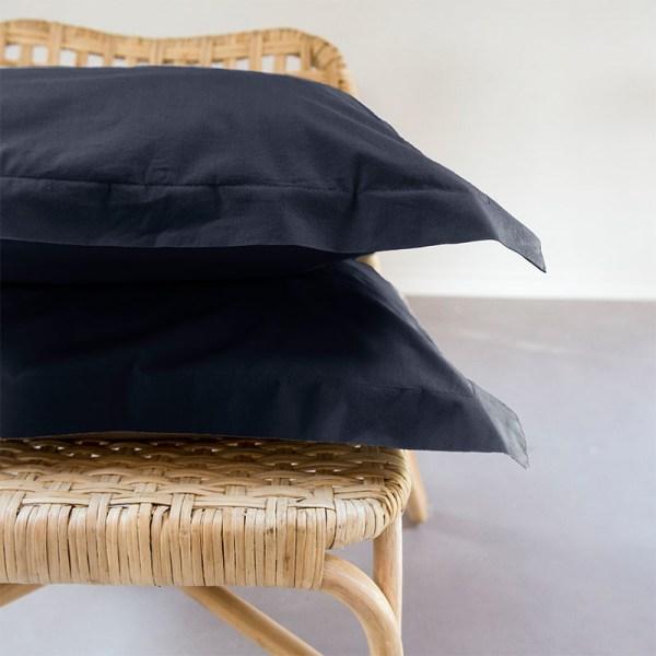 1+1 Gratis - Egyptisch Luxe Katoen Kussenslopen - Antraciet Presence - Ga naar Dekbed-Discounter.nl & Profiteer Nu