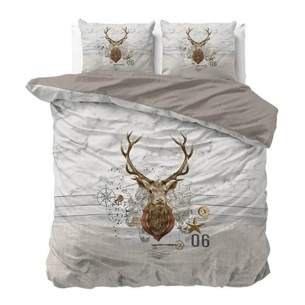 Dekbedovertrek Christmas Deer 1-persoons (140x200/220 cm) - Katoen - Kerst - - Ga naar Dekbed-Discounter.nl & Profiteer Nu