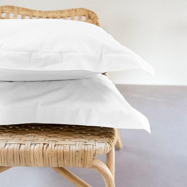 1+1 Gratis - Egyptisch Luxe Katoen Kussenslopen - Wit Presence - Ga naar Dekbed-Discounter.nl & Profiteer Nu