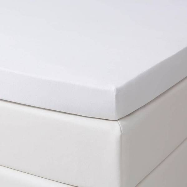 1+1 Gratis - Jersey Stretch Topper Hoeslakens - Wit Dekbed Discounter 80/90 x 200/210