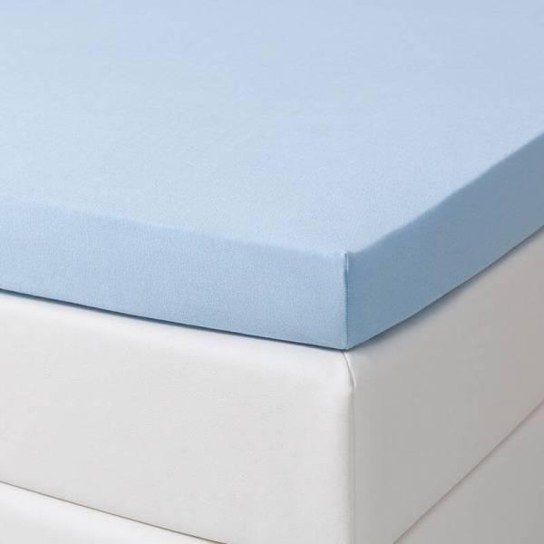 Jersey Hoeslaken - 140x200/210 cm - Blauw - Dekbed Discounter
