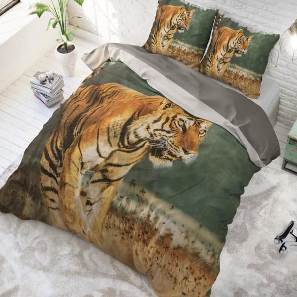 DreamHouse Bedding Nature Tiger Taupe 2-persoons (200 x 220 cm + 2 kussenslopen) Dekbedovertrek