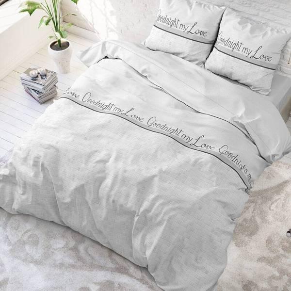 Sleeptime Elegance Goodnight My Love - Wit 2 1-persoons (140 x 220 cm + 1 kussensloop) Dekbedovertrek