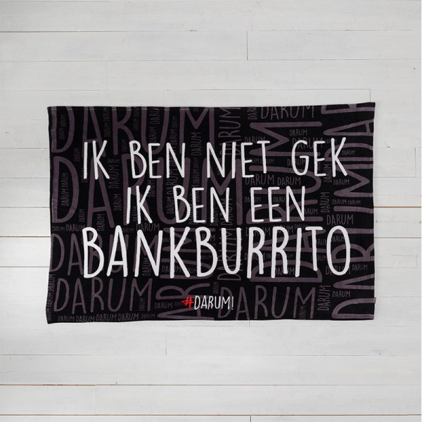 #DARUM! - Plaid - Bankburrito #DARUM! Tekst 130 x 170 cm - Ga naar Dekbed-Discounter.nl & Profiteer Nu