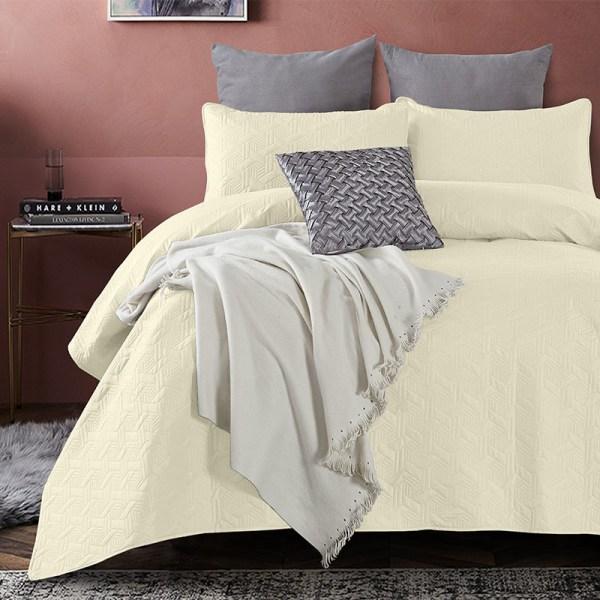 Bedsprei - Baltimore - Creme DreamHouse Bedding Patroon 180 x 250 + 1 kussensloop - Ga naar Dekbed-Discounter.nl & Profiteer Nu