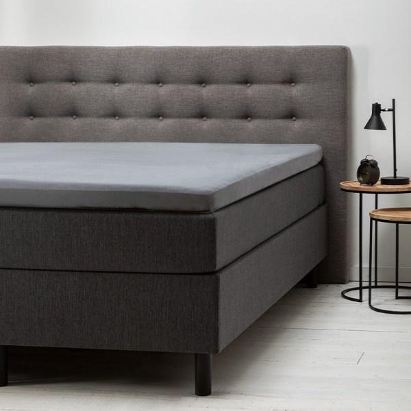 Dekbed Discounter 2-Pack Comfort Topper Hoeslaken Jersey- Lichtgrijs 80/90 x 200/210/220 cm