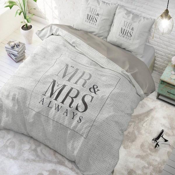 Dekbedovertrek Mr and Mrs Elegant - 1-persoons (140x220 cm) - Katoen - Patroon