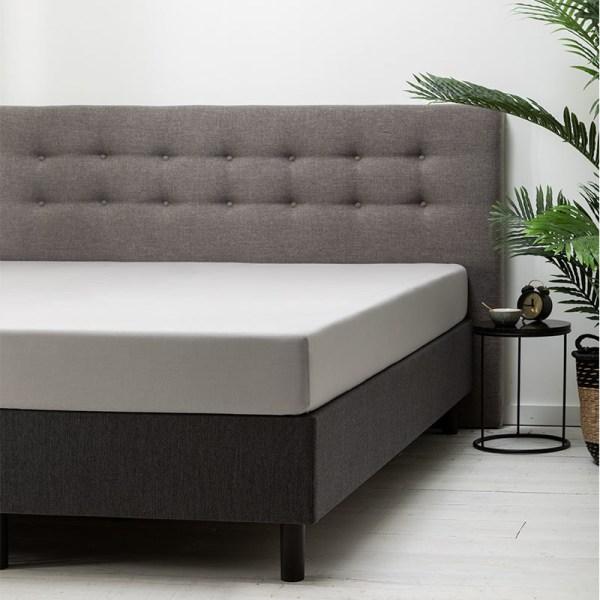 Hoeslaken Katoen - 80x200 cm - Zilver - Dekbed Discounter