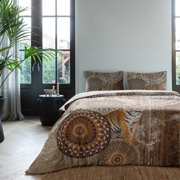 Dekbedovertrek Mandala Tiger 1-persoons (140x200/220 cm) - Katoen - Patroon - - Ga naar Dekbed-Discounter.nl & Profiteer Nu