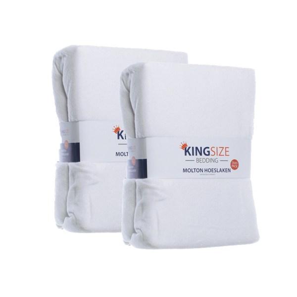 1+1 Gratis - Kingsize Molton Hoeslakens Luna Bedding 80/90 x 200 cm - Ga naar Dekbed-Discounter.nl & Profiteer Nu