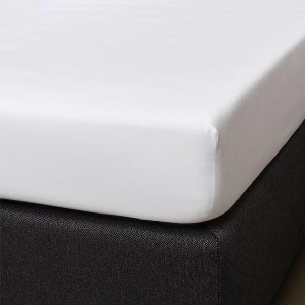 Hoeslaken Katoen-satijn - Wit 90x200 cm - - Signature - Ga naar Dekbed-Discounter.nl & Profiteer Nu