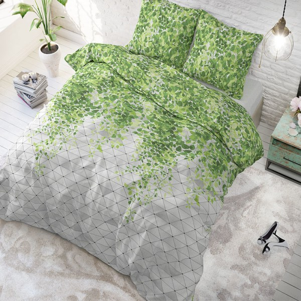 Sleeptime Elegance Fresh Botanic Green Lits-jumeaux (240 x 200/220 cm + 2 kussenslopen)