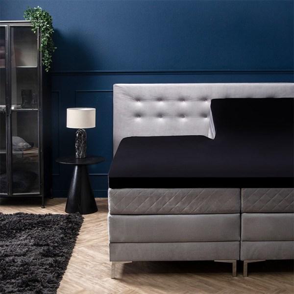 Hoeslaken Jersey - 160x200/210 cm - Zwart - Signature - Ga naar Dekbed-Discounter.nl & Profiteer Nu