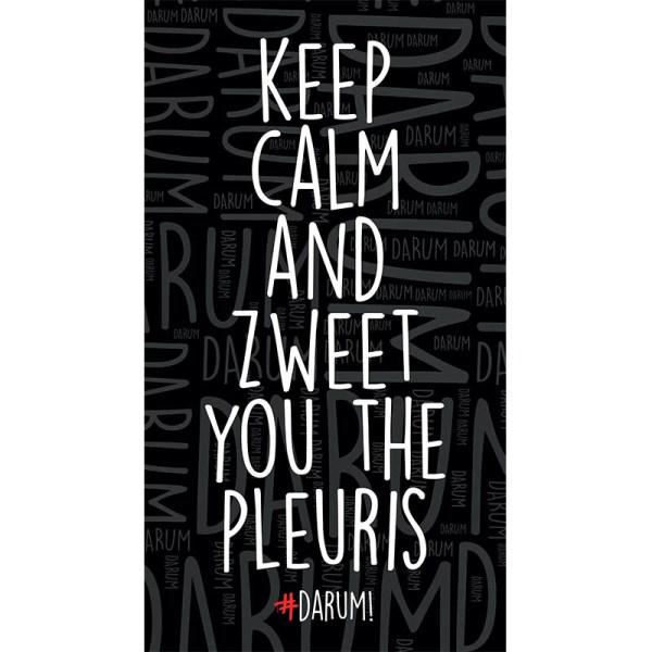 #DARUM! Strandlaken - Keep calm and zweet you the pleuris