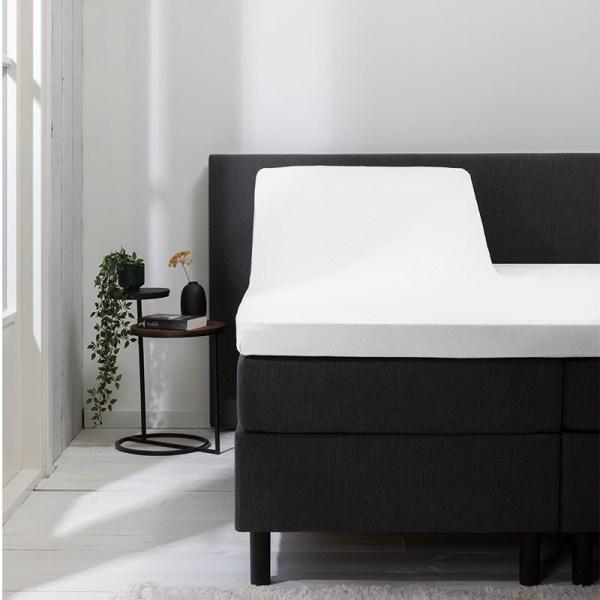 Hoeslaken Jersey/ Katoen-polyester - Wit 140x200 cm - Zwart Wit Blauw Grijs Antraciet Zand - Luna Bedding - Ga naar Dekbed-Discounter.nl & Profiteer Nu