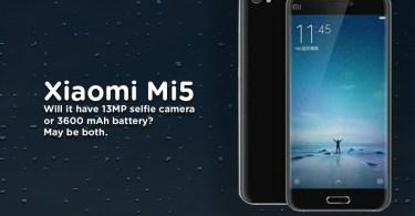 Xiaomi Mi 5 Leaked Features Specs releasing Soon in India