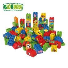 "Biobuddi – Bouwblokken ""Leren maken Mix"" (60 stuks incl. bouwplaten)"
