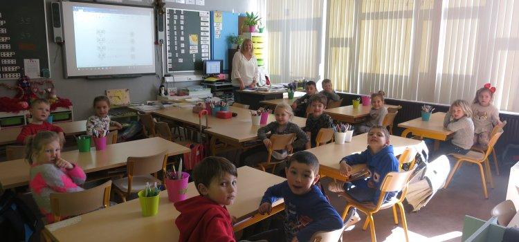 Integratie: 3de kleuterklas maakt kennis met het 1ste leerjaar.