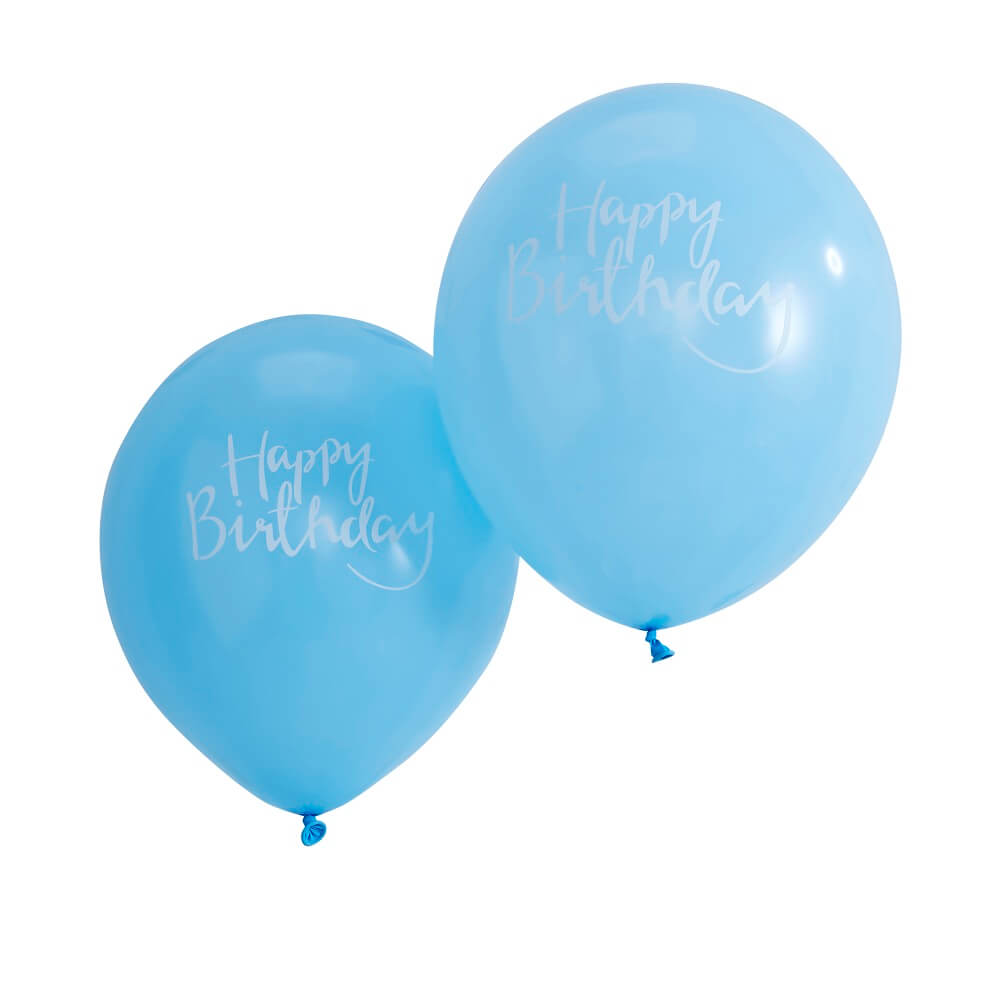 Happy Birthday Blue Balloons Pick And Mix