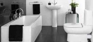 Aşırı Modern Siyah Beyaz Banyo Dekorasyonu Fikirleri