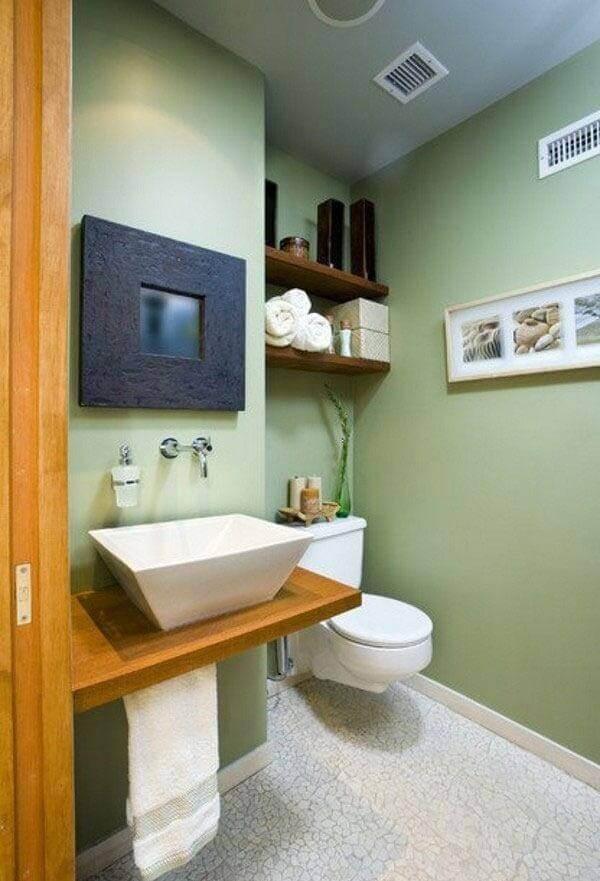 Alanı dar banyo dekorasyon fikri