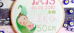 Bebek Odaları için Etamin Doğum Panosu Yapımı