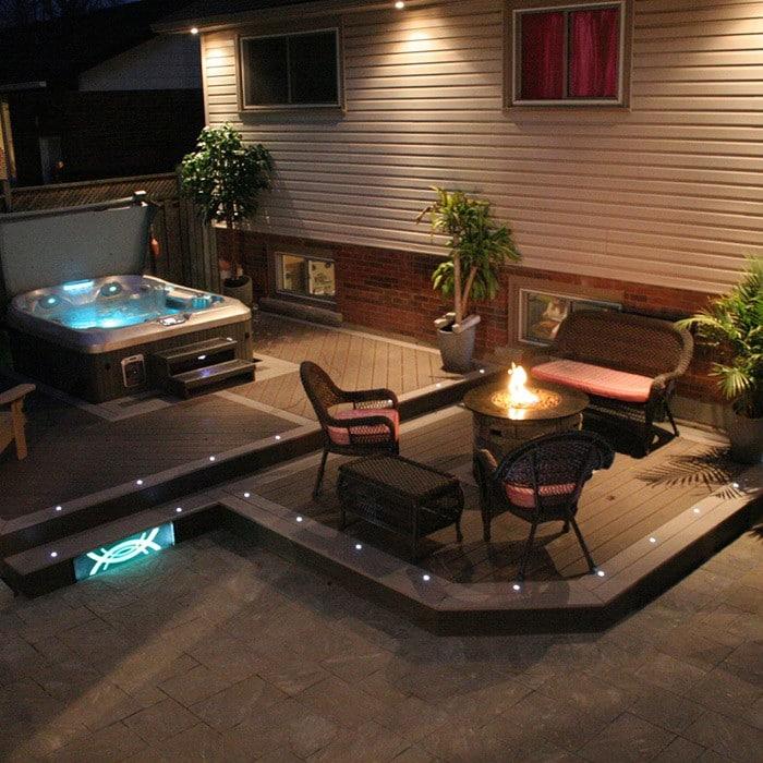recessed dek dot led lights indoor outdoor