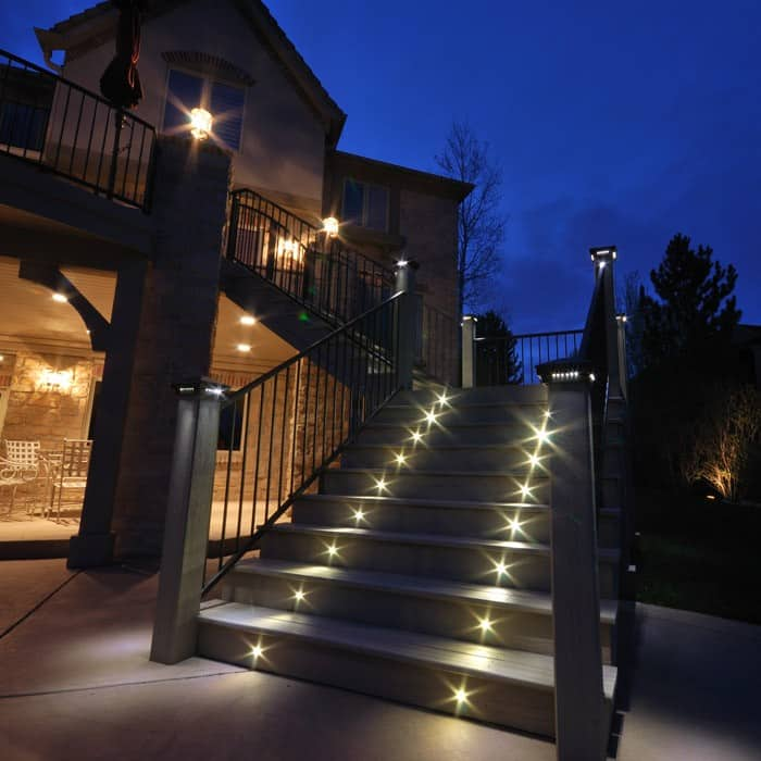 outdoor led recessed stair light kit 8 pack