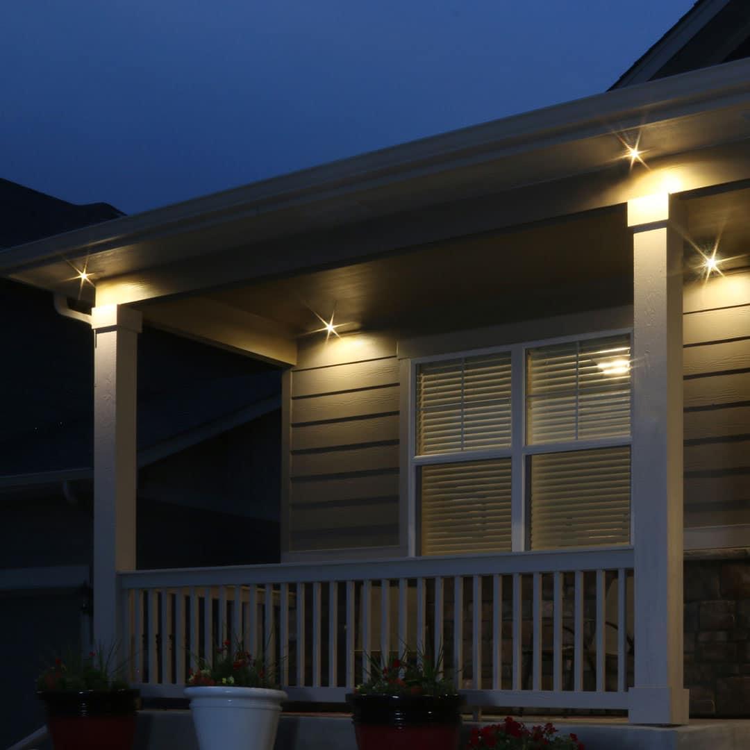 led soffit spot light outdoor kit