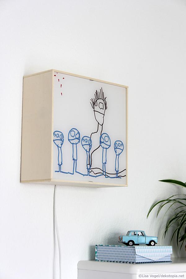 wandbeleuchtung selber bauen dekotopia. Black Bedroom Furniture Sets. Home Design Ideas