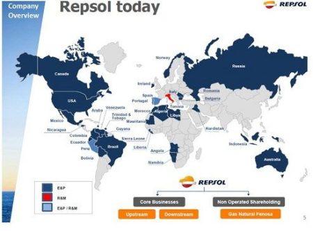 Repsol werkt wereldwijd