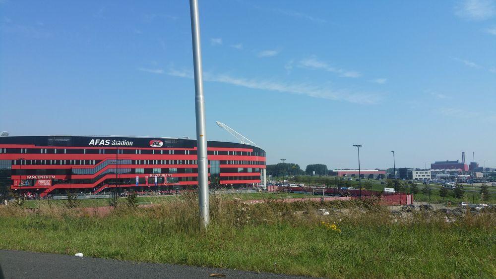Het winderigste stadion van Nederland.
