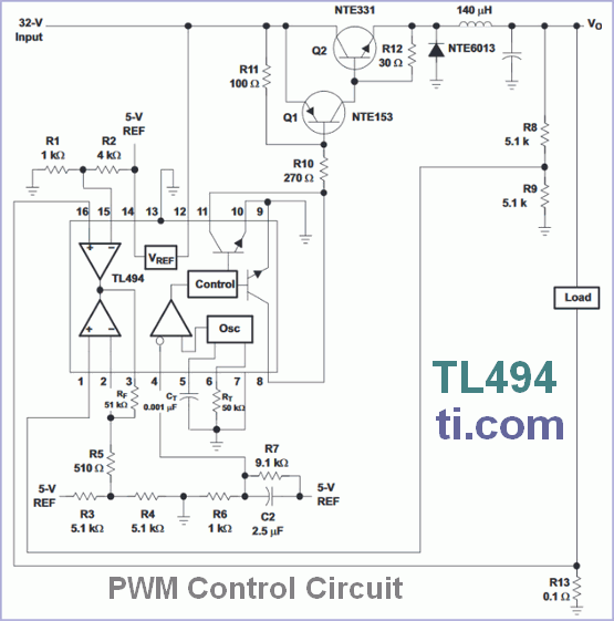 PWM Control Circuit - TL494 - delabs Technologies