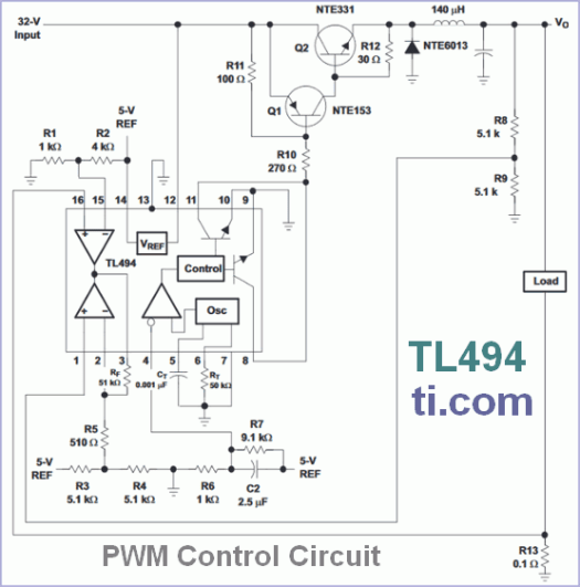 PWM Control Circuit - TL494