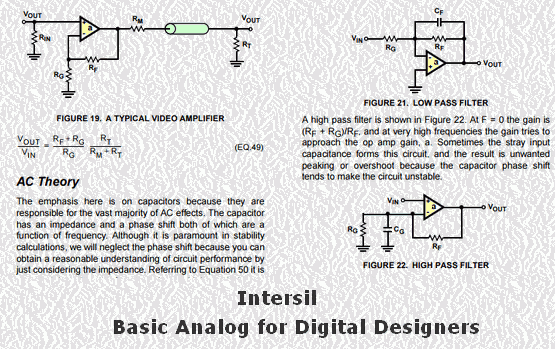 Basic Analog for Digital Designers