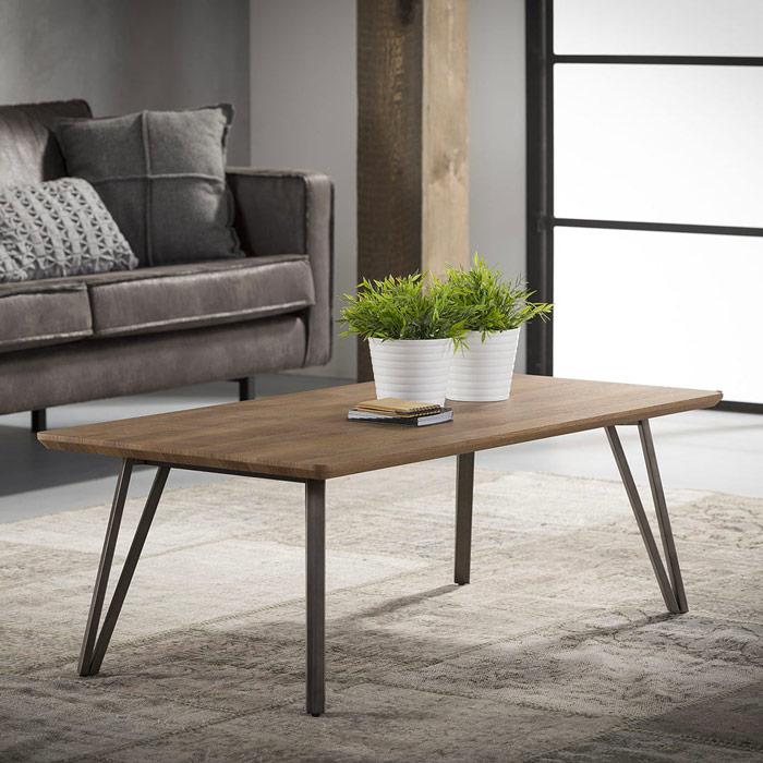 une table basse retro pour un salon