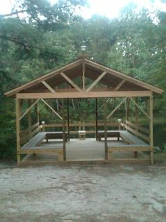 Ted Thompson oversaw the building of the new gazebo.