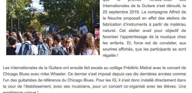 Les ateliers de fabrication d'instruments aux Internationales de la Guitare