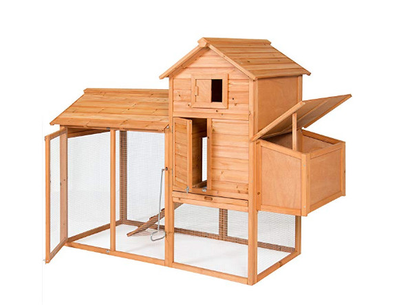 Outdoor Wooden Chicken Coop Wire Fence