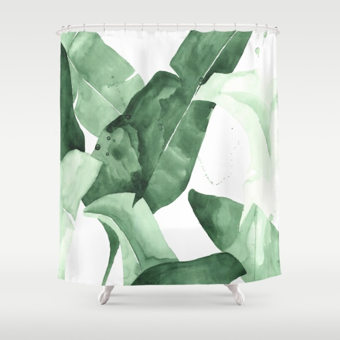 Beverly II Palm Fronds Shower Curtain