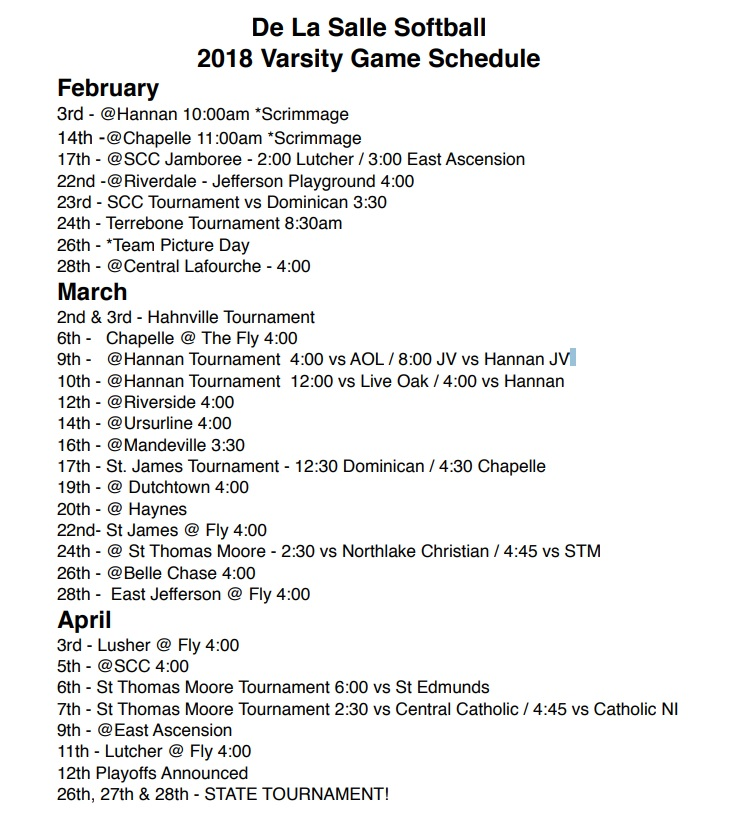 softball-2018-schedule