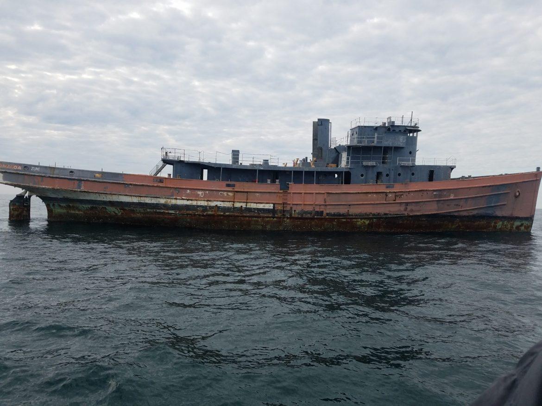 the tamaroa, zuni, sinking ships for reefs, coleen marine, del jersey reef land