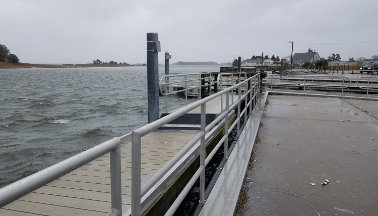 Masseys Landing at high tide 2PM Tuesday
